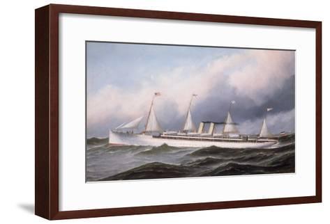 S.S. 'Kaiser Wilhelm II', 1889-Antonio Jacobsen-Framed Art Print