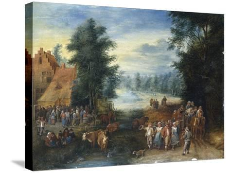 The Four Seasons - Spring-Theobald Michau-Stretched Canvas Print