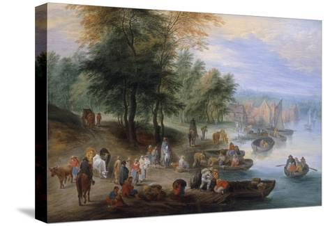 Landscape with Figures-Theobald Michau-Stretched Canvas Print