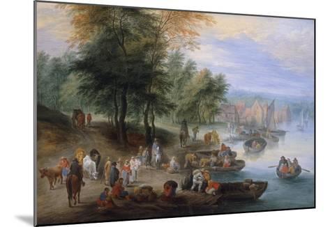 Landscape with Figures-Theobald Michau-Mounted Giclee Print