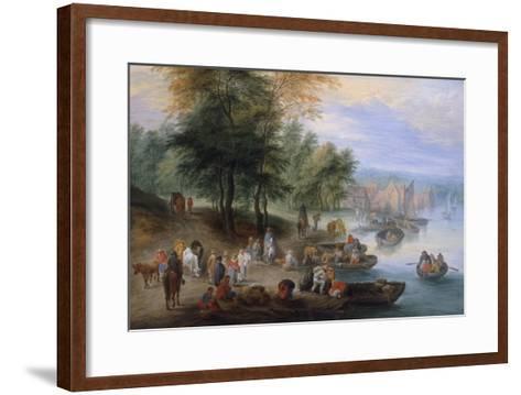 Landscape with Figures-Theobald Michau-Framed Art Print