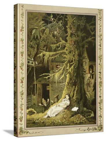 Snow White: When the Dwarfs Returned, They Discovered the Sleeping Snow White-V^p^ Mohn-Stretched Canvas Print