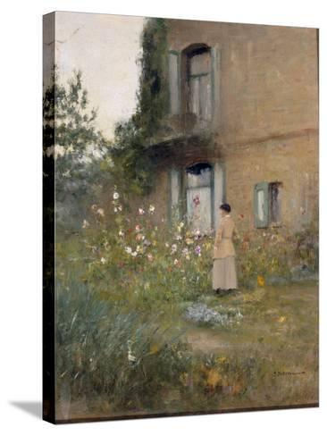 In the Garden-Ivan Pavlovich Pochitonov-Stretched Canvas Print