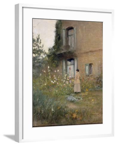 In the Garden-Ivan Pavlovich Pochitonov-Framed Art Print