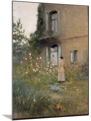In the Garden-Ivan Pavlovich Pochitonov-Mounted Giclee Print