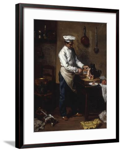 In the Kitchen-Theodule Ribot-Framed Art Print