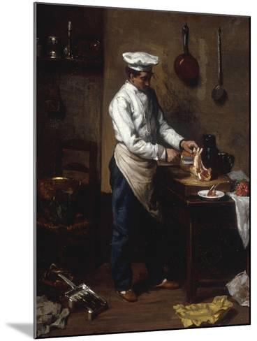 In the Kitchen-Theodule Ribot-Mounted Giclee Print