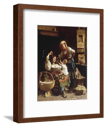 Teasing the Baby-Pietro Saltini-Framed Art Print