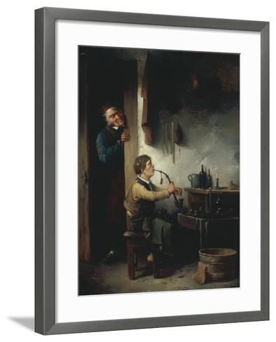 The Young Apprentice-Christian Andreas Schleisner-Framed Art Print