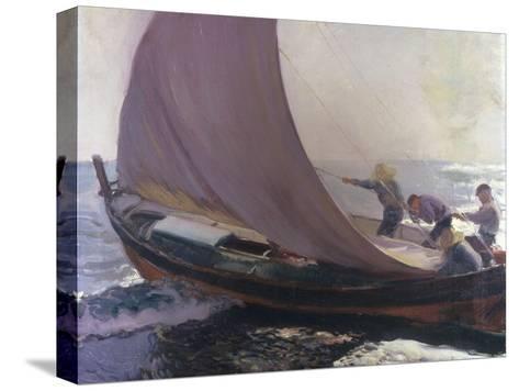 A Gust of Wind, 1904-Joaqu?n Sorolla y Bastida-Stretched Canvas Print
