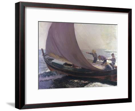 A Gust of Wind, 1904-Joaqu?n Sorolla y Bastida-Framed Art Print