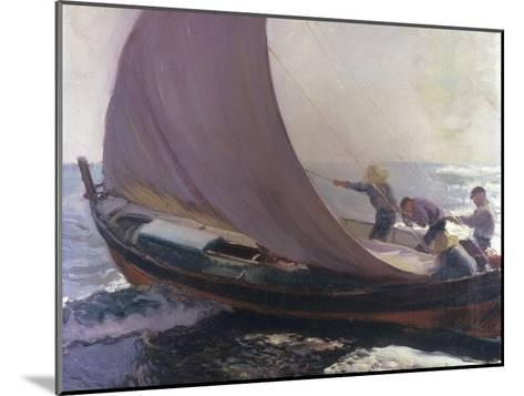 A Gust of Wind, 1904-Joaqu?n Sorolla y Bastida-Mounted Giclee Print