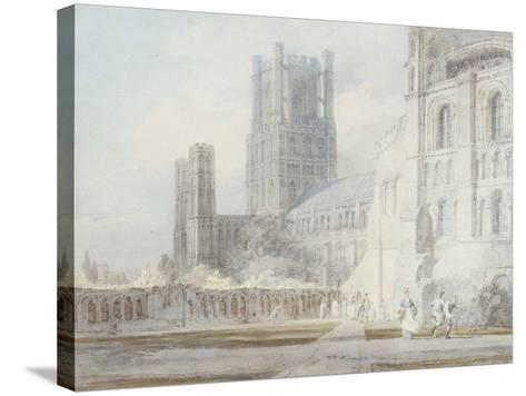 Ely Cathedral from the South-East, 1794-J^ M^ W^ Turner-Stretched Canvas Print
