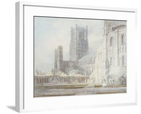 Ely Cathedral from the South-East, 1794-J^ M^ W^ Turner-Framed Art Print