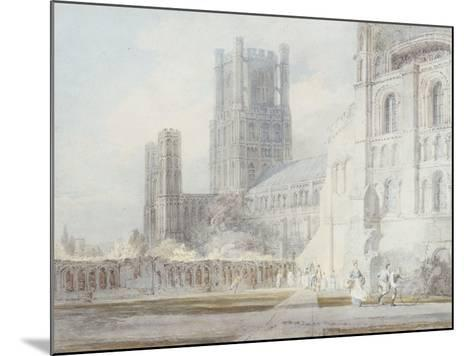 Ely Cathedral from the South-East, 1794-J^ M^ W^ Turner-Mounted Giclee Print
