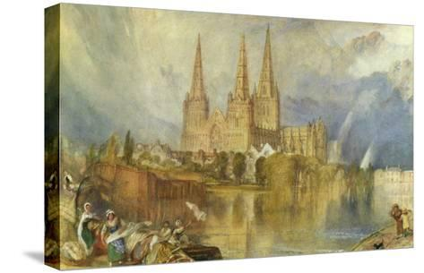 Lichfield, Staffordshire, c.1830-35-J^ M^ W^ Turner-Stretched Canvas Print