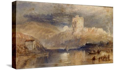 Norham Castle - Moonrise-J^ M^ W^ Turner-Stretched Canvas Print