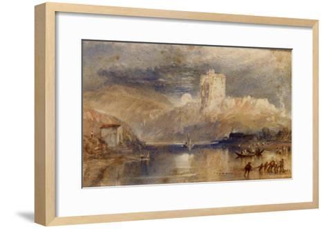 Norham Castle - Moonrise-J^ M^ W^ Turner-Framed Art Print