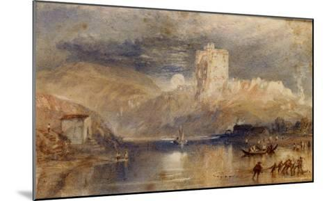 Norham Castle - Moonrise-J^ M^ W^ Turner-Mounted Giclee Print
