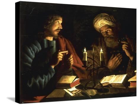 Christ and Nicodemus-Crijn Hendricksz Volmarijn-Stretched Canvas Print