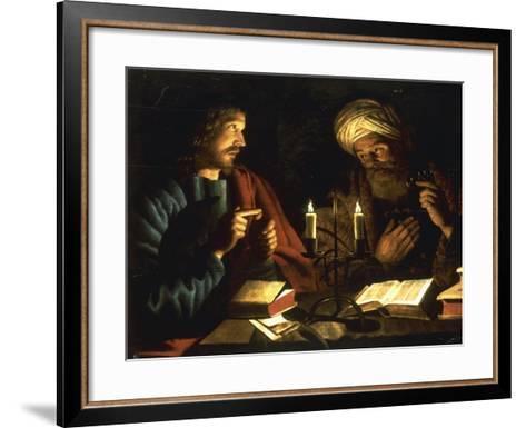 Christ and Nicodemus-Crijn Hendricksz Volmarijn-Framed Art Print