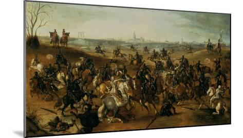 The Battle of Lekkerbeetje or the Battle of Vught Heath with a View of 'S-Hertogenbosch'-Sebastiaen Vrancx-Mounted Giclee Print