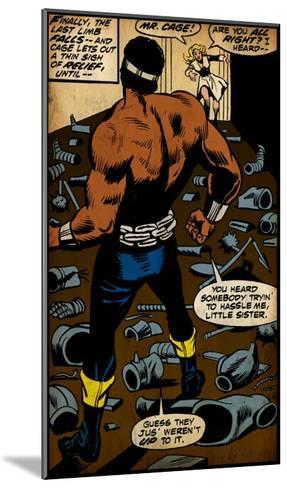 Marvel Comics Retro: Luke Cage, Hero for Hire Comic Panel (aged)--Mounted Art Print