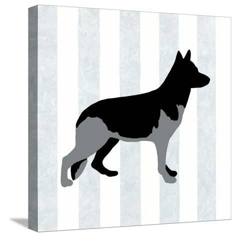 German Shepard in Neutral-Christine Lucas-Stretched Canvas Print