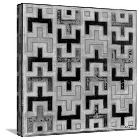Mudcloth Black and White I-Norman Wyatt Jr^-Stretched Canvas Print