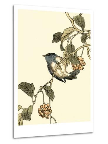 Oriental Bird on Branch III-Vision Studio-Metal Print