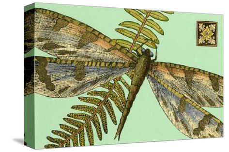 Dragonfly on Aqua I--Stretched Canvas Print