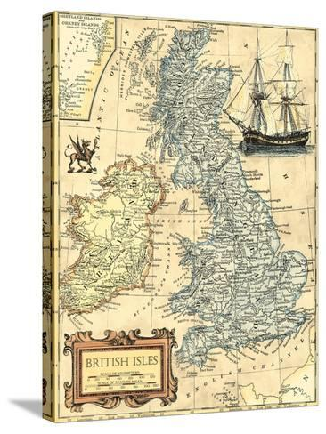 British Isles Map-Vision Studio-Stretched Canvas Print