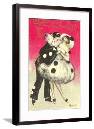 Pierrot Dancing at Costume Ball--Framed Art Print