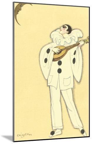 Pierrot Singing to Crescent Moon--Mounted Art Print