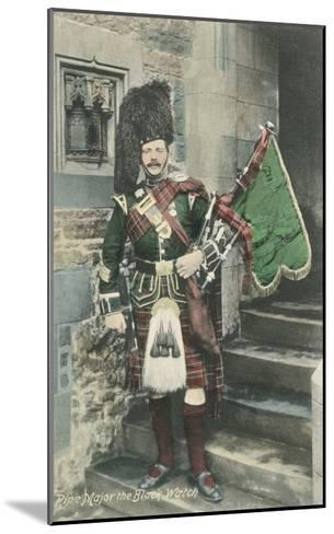 Black Watch Bagpiper--Mounted Art Print