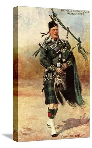 Argyll and Sutherland Highlanders--Stretched Canvas Print