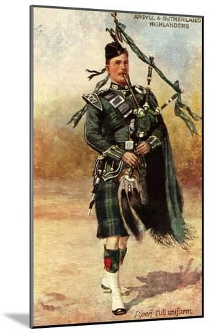 Argyll and Sutherland Highlanders--Mounted Art Print