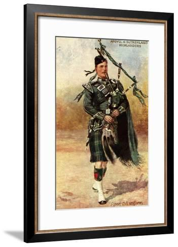 Argyll and Sutherland Highlanders--Framed Art Print