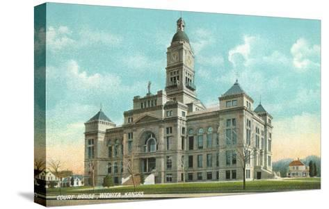 Courthouse, Wichita, Kansas--Stretched Canvas Print