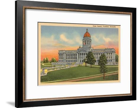 State Capitol, Frankfort, Kentucky--Framed Art Print
