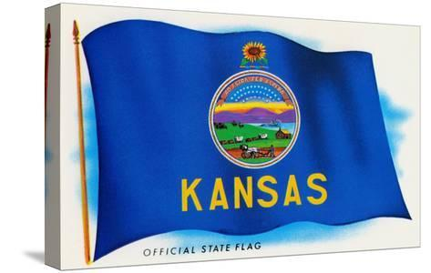 Flag of Kansas--Stretched Canvas Print