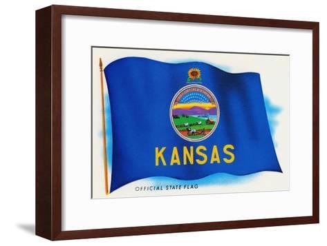 Flag of Kansas--Framed Art Print