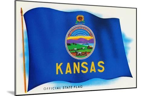 Flag of Kansas--Mounted Art Print