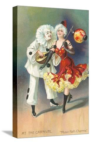 At the Carnival, Music Hath Charms--Stretched Canvas Print