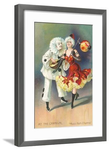 At the Carnival, Music Hath Charms--Framed Art Print