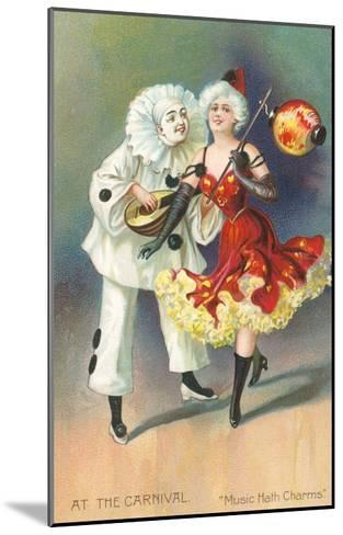 At the Carnival, Music Hath Charms--Mounted Art Print