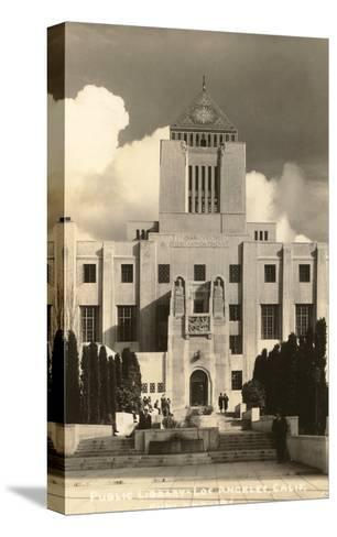 Public Library, Los Angeles, California--Stretched Canvas Print
