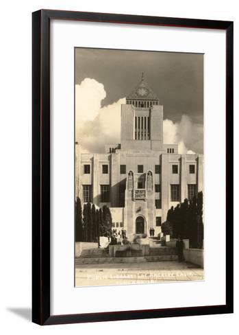 Public Library, Los Angeles, California--Framed Art Print