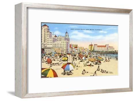 West Lagoon Beach, Long Beach, California--Framed Art Print