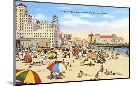 West Lagoon Beach, Long Beach, California--Mounted Art Print